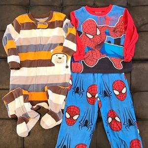 2 Fleece Pajamas 3T